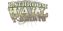 bathroom wall t-shirts logo