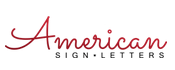 american sign letter logo