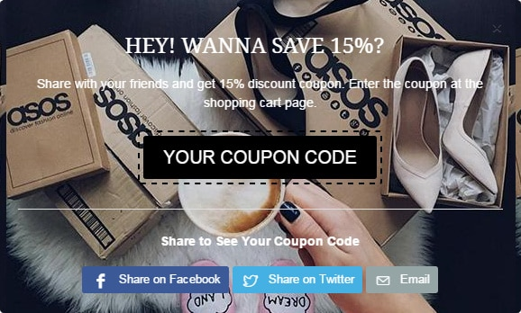 Social Sharing coupon