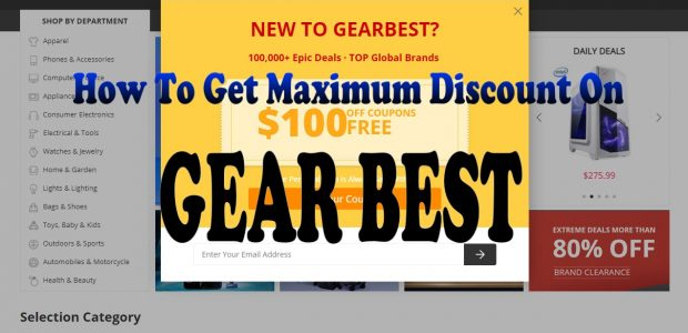 How to get maximum discount on GEAR BEST