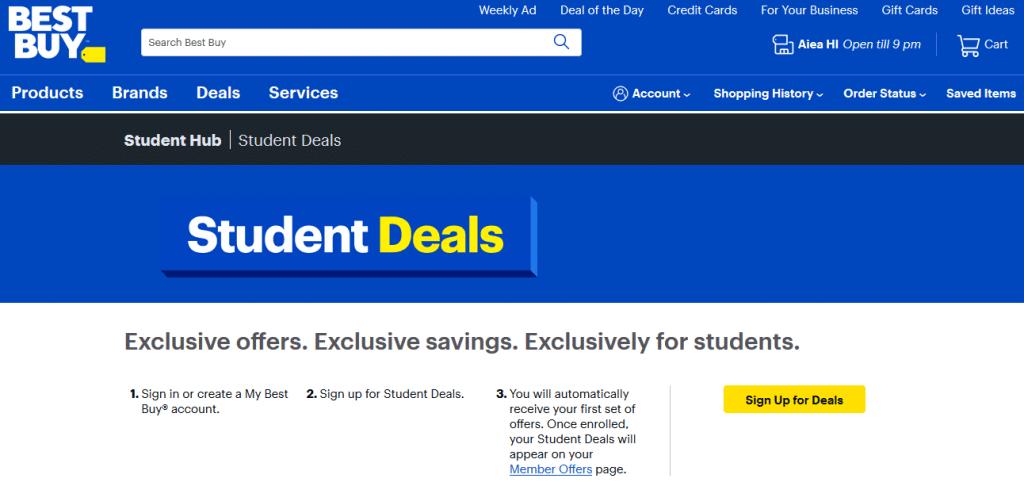 Best Buy Student Discount