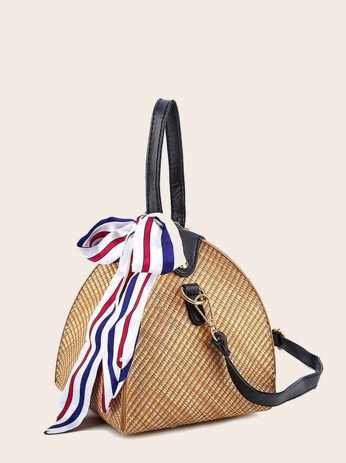 Minimalist Braided Satchel Bag